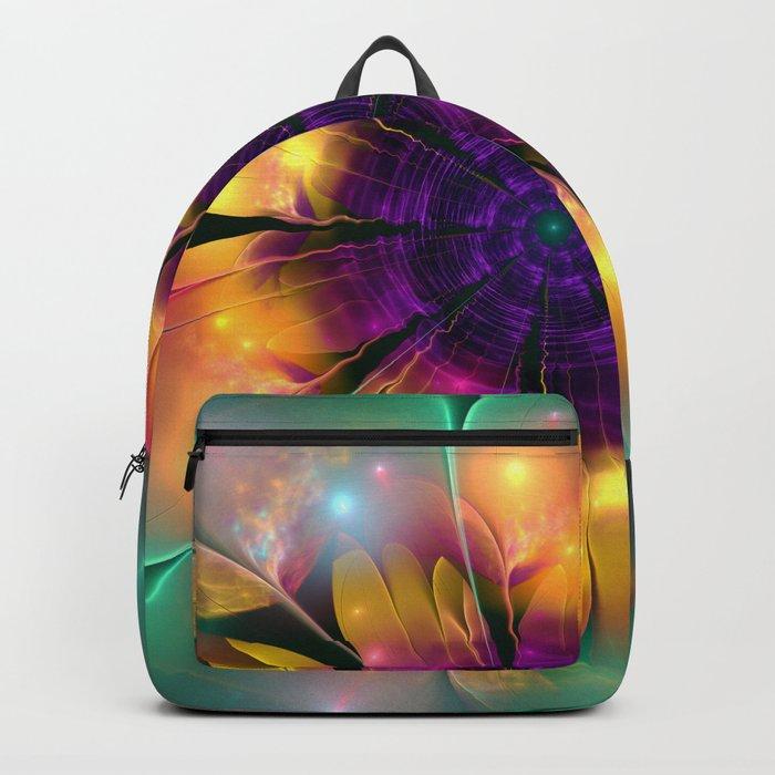 Artistic magical fantasy flower Backpack
