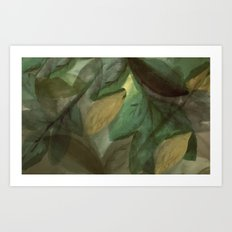 The Beginning of Autumn Abstract Art Print