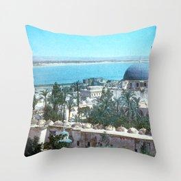 Akka. Carmel range across the bay Throw Pillow