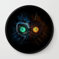 majora Wall Clocks featuring Majora Mask  by DavinciArt