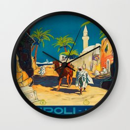 Vintage poster - Tripoli Wall Clock