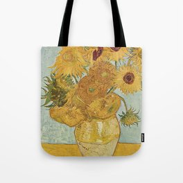 STILL LIFE: VASE WITH TWELVE SUNFLOWERS - VAN GOGH Tote Bag