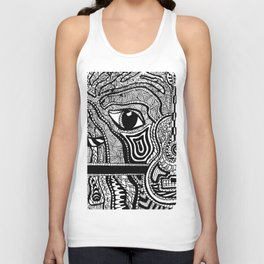 Face in Space Unisex Tank Top