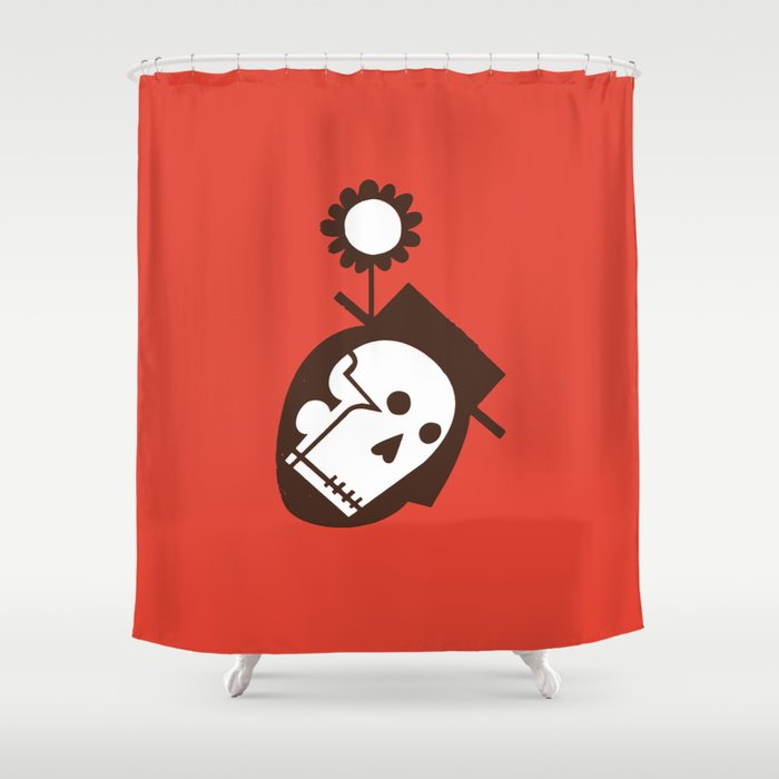 """""""Man With Flower In Hat"""" or """"Soil"""" Shower Curtain"""