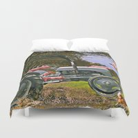 pigs Duvet Covers featuring Freedom Pigs by Jelly Roger