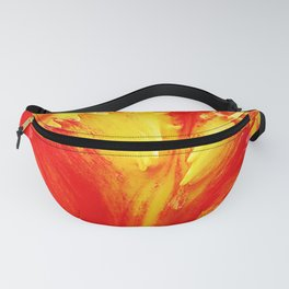 Curly Tulip Red And Yellow Fanny Pack