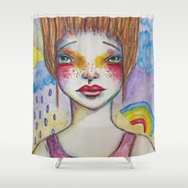 The Greater Your Storm, The Brighter Your Rainbow Shower Curtain