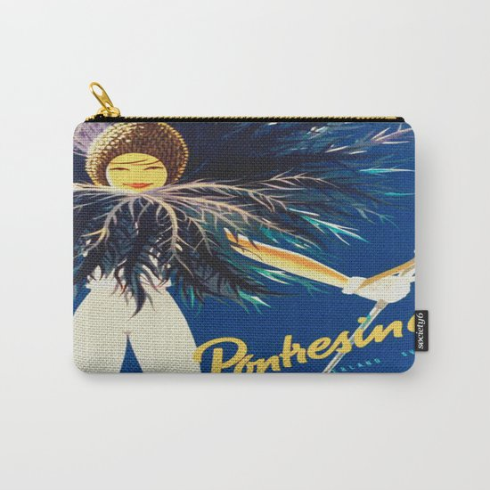 Vintage Travel Pontresina Switzerland Carry-All Pouch