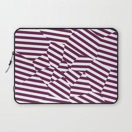 Mulberry Strip - Voronoi Stripes Laptop Sleeve