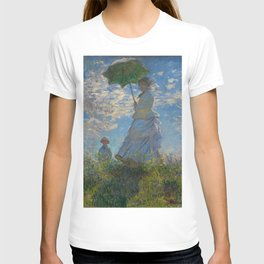 Claude Monet  -  Woman With A Parasol   Madame Monet And Her Son T-shirt