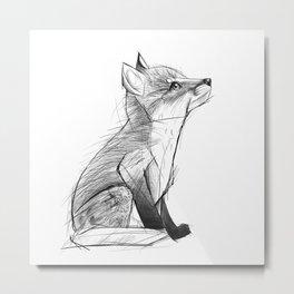 Fox Pup Metal Print