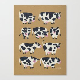 Cow Collection - Kraft Canvas Print