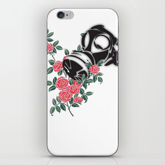 smell the roses - gas mask iPhone & iPod Skin
