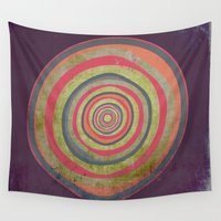 geode Wall Tapestries featuring Oh My Geode by Amy Moen