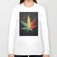 marijuana Long Sleeve T-shirts featuring Marijuana by Michael Creese