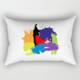 Artistic Brush Strokes Rectangular Pillow
