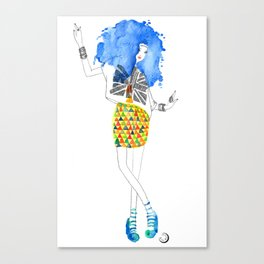 Blue Dance Canvas Print