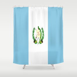 Flag of Guatemala- Guatemalan, Mixco,Villa Nueva,Petapa,tropical,central america,spanish,latine Shower Curtain