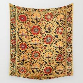 Shakhrisyabz Suzani  Antique Uzbekistan Embroidery Print Wall Tapestry