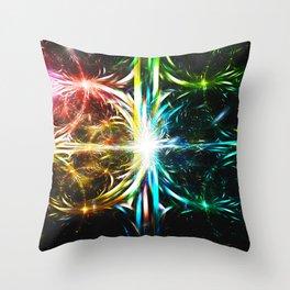Prismatic Cataclysm Throw Pillow