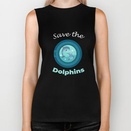 Save the Dolphins Protection March  Biker Tank