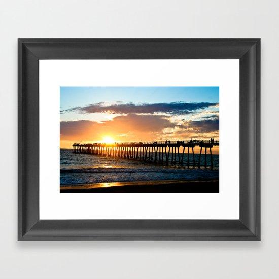 Hermosa Pier (2) Framed Art Print