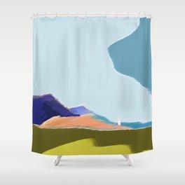 honfleur harbor - low clouds sky Shower Curtain