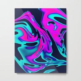 Swan Reflect Metal Print