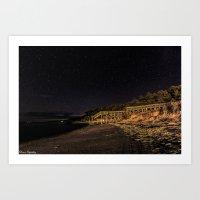 Nights At The Beach Art Print