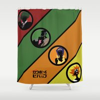 cowboy bebop Shower Curtains featuring Bebop Team by AngoldArts