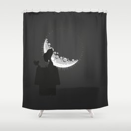 Looking the moon Shower Curtain