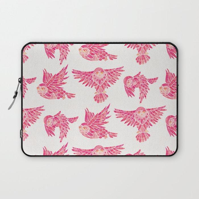 Owls in Flight – Pink Palette Laptop Sleeve