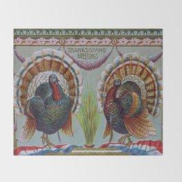 Thanksgiving Greetings 1906 Throw Blanket