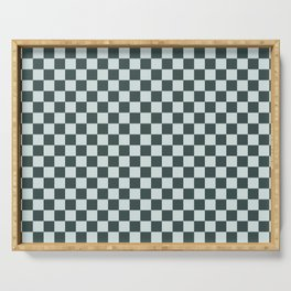 Checkerboard Pattern Inspired By Night Watch PPG1145-7 & Cave Pearl PPG1145-3 Serving Tray