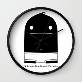 """""""I know how to pee"""" Monster Wall Clock"""