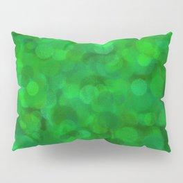 Fresh Bright Moss Green Abstract Pillow Sham