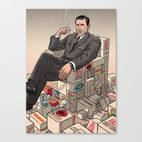 mad men Canvas Prints featuring Mad Men by David M. Buisán