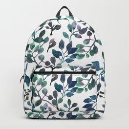 Jade and Succulent Watercolor Plant Pattern Backpack