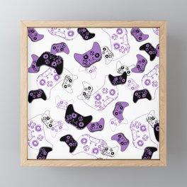Video Game White & Lavender Framed Mini Art Print