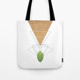 Geometric Leaf Tote Bag