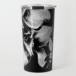 Dogwood Tree Flowers (black background) Travel Mug