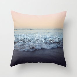 Let's Run Away x Arcadia Beach Throw Pillow