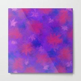Fuchsia Flower Star Poof Print Pattern  Metal Print