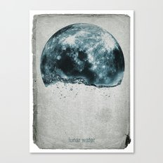lunar water Canvas Print