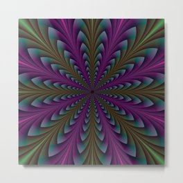 Spear Points in Purple and Green Metal Print