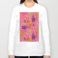 hands Long Sleeve T-shirts featuring Hands by LebensART