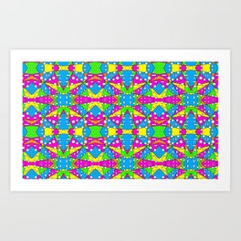 80s Style Bold and Fun Retro Pattern Art Print