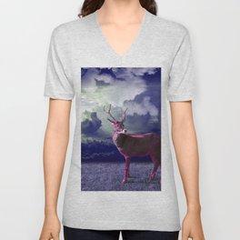Le cerf dans les nuages Unisex V-Neck