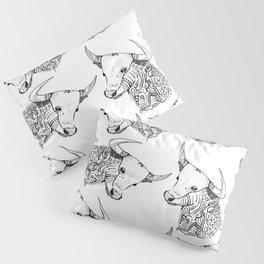 TAURUS - bull - zodiac doodle series abstract Pillow Sham