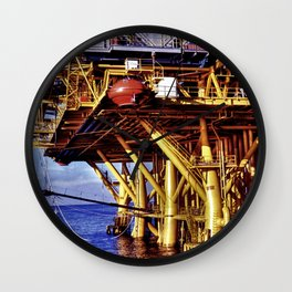 Offshore Oil Rig Wall Clock